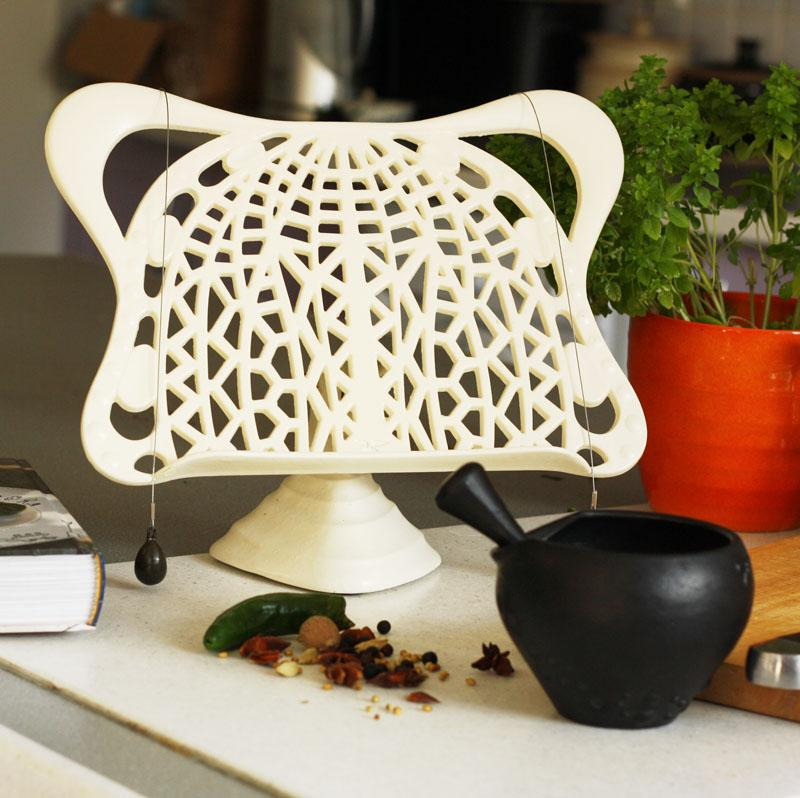 Cast iron cook book stand cream - Cream recipe book stand ...