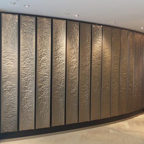 Architectural Interiors Hammered Sheet Panels