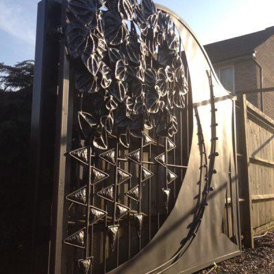 Driveway Artistic Gates-Cascading Gate