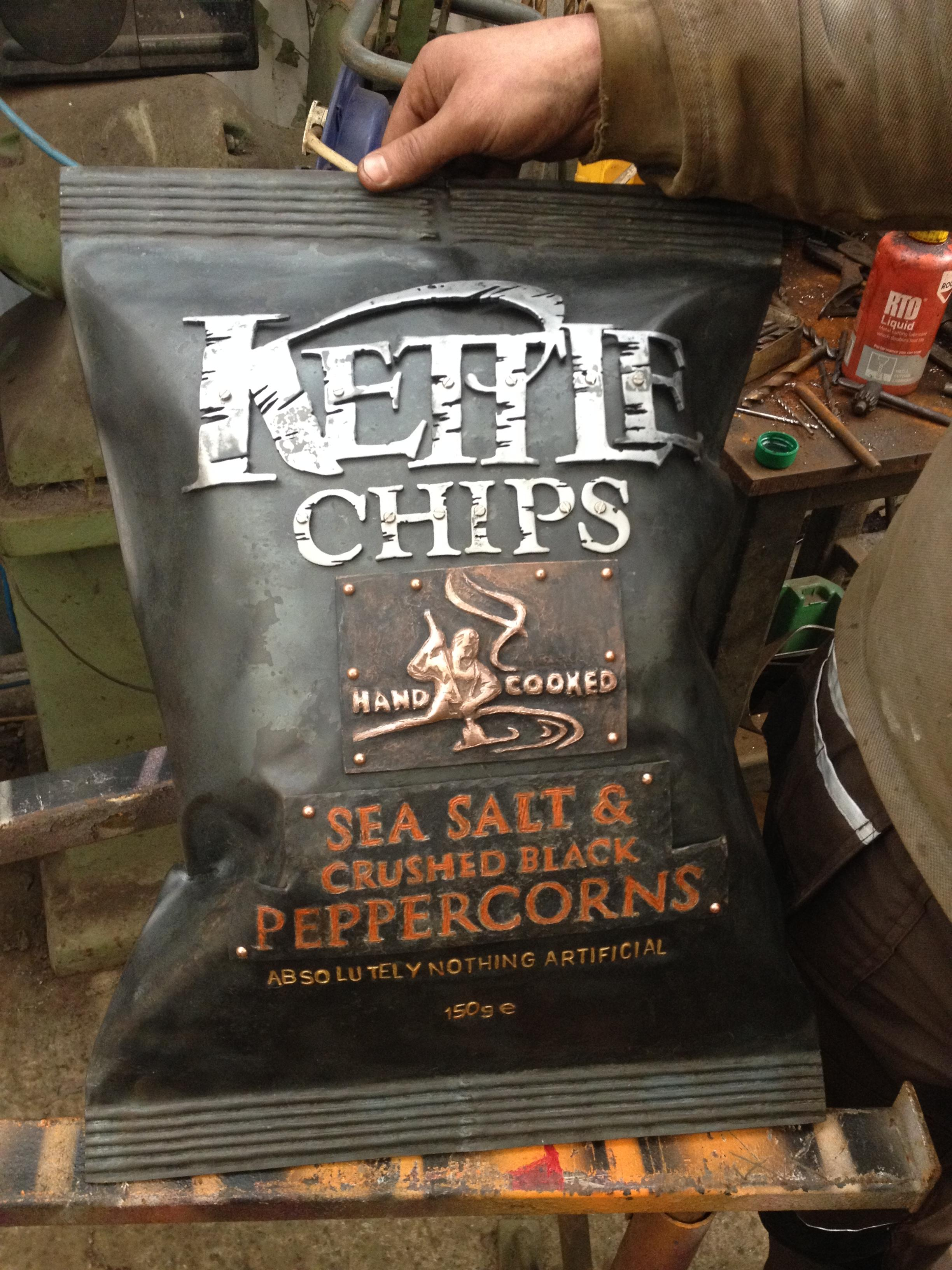 Completed Steel Kettle Chips Pack