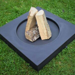 Bex Simon Halo 700 fire pit with personalized message