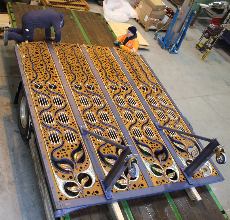Langley Street Gate Forged Transport